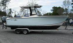 2008 Ken Craft Sea King 230CC $29,900 25 Ft. Center Console, 2008 Twin 150HP Yamaha F150TXR LF150TXR 4-Strokes with 2700 hours, Excellent Compression and clean Computer Reports, T-Top with Canvas, Raymarine Fish Finder, Raymarine 24 mile Radar, Garmin