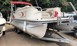 2008 Lowe SS240 Suncruiser 24ft Mercury 90hp, 2stroke No Trailer New Upholstery!!