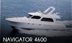 Actual Location: Afton, OK - Stock #090171 - Beautiful Pilothouse Yacht! Only 268 Hours!This 2008 Navigator 4600 is a blend of traditional pilothouse design, rugged construction, and practical cabin accommodations. Navigator developed a reputation since