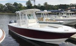 2008 Regulator 26FS (Maroon hull) powered with Twin Yamaha F250 (with approx 925 hr--average less than 100 hr per year).  Boat and motors in great condition.  Garmin 5212 with Autopilot, VHF. White powder coat with 2 livewells (Livewell in