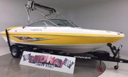 Big boat and loaded to the gills! Another super clean family runabout! Like new but thousands and thousands less!! Comes with warranty. Ask about free delivery! And yes, we take trades.  Now shipping to our Australian