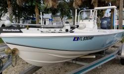 2008 SEA CHASER by Carolina Skiff 180 Flats & Bay boat, Yamaha F115 Four Stroke, Custom Fastload aluminum trailer, Lowrance Elite5 color fishfinder/GPS combo, Boss Marine Stereo, Motorguide digital 24Volt 82lb. thrust trolling motor w/2 bank Guest on