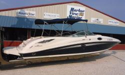 2008 Sea Ray 290 SunDeck on the Florida / Alabama Gulf Coast. This beautiful boat is sparklingly clean! The dark blue hull gel coat is flawless and indicates that it's been inside dry stored. Let's talk about features that will make your day in the