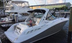 Immaculate 2008 Sea Ray 330 Sundancer  So Many Upgrades Only 530 Hours on Mercruiser 8.1 Horizons Custom Bow Sun Pad with JL Speakers Upgraded LED Lighting Throughout New Bow Thruster Composite Teak and Holly Sole with Mahogany Steps New Berber