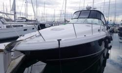 Just detailed, Serviced and Ready to Show in Elliot Bay Marina This Sea Ray 340 is a one-owner boat, current on maintenance and upkeep. She will make a great weekend cruiser and has the sleeping capacity of six if necessary. Powered by twin Mercruiser