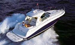 Sleek styling, a large, comfortable cockpit and a luxurious interior that sleeps plenty are just the rightformulafor endless fun in the 44 Sundancer. A wealth of instrumentation and information is at the captain's fingertips. Key Features: