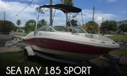 Actual Location: Hudson, FL - Stock #078429 - If you are in the market for a bowrider, look no further than this 2008 Sea Ray 185 Sport, just reduced to $18,900 (offers encouraged).This boat is located in Hudson, Florida and is in good condition. She is