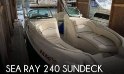 Actual Location: Tacoma, WA - Stock #088645 - If you are in the market for a deck, look no further than this 2008 Sea Ray 240 Sundeck, just reduced to $45,999 (offers encouraged).This boat is located in Tacoma, Washington and is in good condition. She is