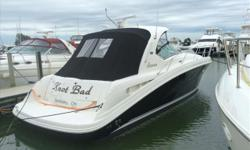 This FRESH WATER 2008 38DA is equipped with Twin Cummins ZEUS 380 QSB Pod Drives. Her impressive helm features Vessel View Smart, Joystick Control and Skyhook Positioning. Electronics include 2 Raymarine E127's, Raymarine HD Radar and Raymarine XM Weather