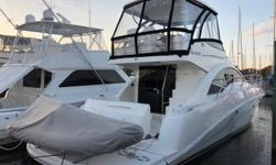 2008 47' Sea Ray Sedan Bridge -- Preferred 2 Stateroom + 2 Head Layout -- Pristine Inside & OutTwin Cummins Diesel QSC-600 V-Drives w/ 574HP Each. All Services Up To Date.Loaded with Upgrades: Hydraulic Swim Platform, Bow & Stern Thrusters, Acrylic Glass