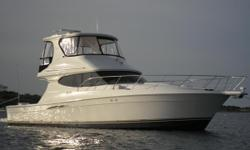 Charisma is absolutely the most beautiful and pristine kept 45 Silverton Convertible on the market today.  Currently located up in Brunswick, GA at Brunswick Landing Marina.  Her hull is a 2008, but she was bought brand new in 2010.  With