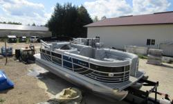 Get your Triple-Toon pontoon for next year now. We have a fully loaded model powered by a Mercruiser 4.3lt motor with 388 hrs. Luxury Performance Black Pearl Edition! Will store for this winter season. Beam: 8 ft. 6 in. Hull color: Black Stock number: Bob
