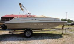 Mercruiser 4.3L, Trailmaster trailer. More details and pictures to come. Contact (NE) Travis- travis@wacondaboats.com or 308-799-5000. Hull color: White/Champagne