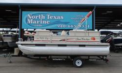 2008 SUNTRACKER PARTY BARGE 190 If you're looking for an inexpensive way to hit the lake, check out this 2008 Suntracker Party Barge 190. There's room for 8 onboard and her size makes her easy to maneuver. You won't win any races with the Mercury 2-stroke