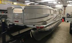 THIS USED BOAT PACKAGE INCLUDES: 2008 SUNCHASER 820 RE CRUISE, 2008 MERCURY 40ELPT,   MOORING COVER, PRIVACY CURTAIN, AND STARING BATTERY. CALL MARINE SALES FOR YOUR BEST DEAL (920)788-0220 Finally, a pontoon that sports the features of high end