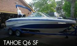 Actual Location: Surfside Beach, SC - Stock #075803 - If you are in the market for a bowrider boat, look no further than this 2008 Tahoe Q6 SF, priced right at $22,500.This boat is located in Surfside Beach, South Carolina and is in great condition. She