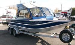 2008 Thunder Jet Alexis Classic 21' Alexis Classic jet. 5.7 Kodiak with 92 hours, Hamilton pump, half hardtop with slider windows, raised fishing deck, suspension seats, Minn Kota 36 volt 101# thrust bow mount, total of 5 batteries with 2 onboard charges,