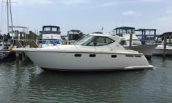 She has the lowest hours of all available boats (112), and every option that was available at purchase, making her the most loaded Tiara 3500 on the market She is equipped with the IPS Volvo pods and Joystick controlling which makes docking a breeze. The