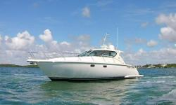 Hull just had barrier coat and 2 coats of Interlux Micron CSC, drives rebuilt and painted with Prop Speed. Best priced 4300 Sovran on the planet and it is a 2008 $259,000. Volvo IPS 600's, 435 HP each, in a very well maintained 2008 Tiara 4300