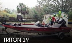 Actual Location: Pensacola, FL - Stock #103363 - If you are in the market for a bass, look no further than this 2008 Triton VT19 Tournament Sport, priced right at $17,400 (offers encouraged).This boat is located in Pensacola, Florida and is in great