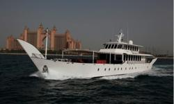 Wesmac Warsan 55 A very unusual super yacht for sale - Warsan. The motor yacht measures 55.15 metres, has a beam of 11.29 metres, draft of 2.21 metres and gross tonnage of 465. Warsan was custom built in the United Arab Emirates for a high profile VIP in