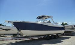 Just in 2008 World cat 290 Dual Console Powered By 2008 Year Twin Suzuki 250HP Outboard Motors That Has 100 Hours. Equipped With Garmin 4212 GPS/Fish Finder, ICOM VHF Radio, Stereo, Windlass, Removable Bow Table, New Never Used 3 Sided Enclosure, Bow