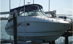 A pristine example of the Sea Ray 270 Sundancer. With 64 hours on the motor and 16 hours on the generator this boat looks like it just came off the showroom floor. There are some very nice upgrades including A/C, Kohler 5.0 Generator, Sirius Satellite