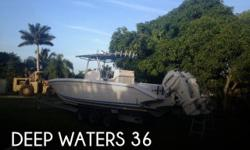 Actual Location: North Miami, FL - Stock #053658 - If you are in the market for a fishing boat, look no further than this 2009 Deep Waters 36, just reduced to $69,900.This vessel is located in North Miami, Florida and is in great condition. She is also