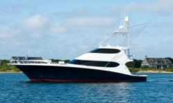 AccommodationsThis is a rare opportunity to purchase the most highly customized Hatteras Sport fisherman ever built. Every option has been upgraded and the layout updated without regard of cost to truly make her a world-class yacht in league of her