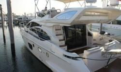 The Azimut 47 Flybridge is one of the latest stylistic developments in their Fly Bridge range, with its characteristic superstructure windows, the skillful harmony of its dimensions and overall wow factor which gives the impression of movement even when