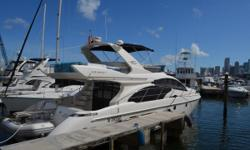 Major Price Reduction! (10 Minutes Away from the 2017 Miami International Boat Show) This 2009 Azimut 50' Flybridge has the lowest hours on the market. Owner has spared no expense keeping this yacht in great condition inside and out. Powered with twin Cat