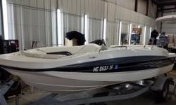 This boat is powered by a Mercruiser 3.0L. Trailer included.For a complete listing call us today at 800-875-2620 and select the location nearest you or view Michigan's largest selection of boats direct only at www.wilsonboats.com Engine(s): Fuel Type: