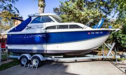This boat is in impeccable condition and has been meticulously maintained. Anyone looking for a Bayliner of this size and style is sure to be impressed. The impressive helm station has protection on three sides so the elements are kept at bay. The 246