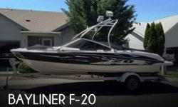 Actual Location: Spokane, WA - Stock #082928 - If you are in the market for a wakeboard, look no further than this 2009 Bayliner F-205, just reduced to $24,900 (offers encouraged).This boat is located in Spokane, Washington and is in good condition. She