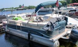 This is a one owner boat that has very low hours. It has a Yamaha 60hp 4 stroke motor. The reclining captains chairs in the bow are great for relaxing or catching your evening meal. Beam: 8 ft. 6 in. Hull color: blue