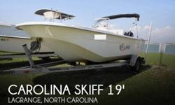 Actual Location: Lagrange, NC - Stock #109493 - If you are in the market for a skiff, look no further than this 2009 Carolina Skiff 198 DLV, just reduced to $19,000 (offers encouraged).This boat is located in Lagrange, North Carolina and is in great
