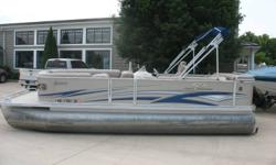 Mercury 40 hp 4 stroke EFI Nice clean pontoon in very good condition. Comes with rear swim ladder, rear table am fm cd, docking lights, bimini and a mooring cover. Nominal Length: 22' Stock number: N/A