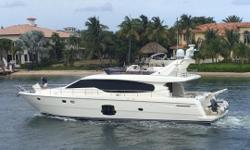 New to market! Late model Ferretti 630 updated and upgraded by knowledgeable owners since purchase. Preliminary listing. Photos coming soon! Nominal Length: 63' Length Overall: 65' Max Draft: 5.3' Engine(s): Fuel Type: Other Engine Type:
