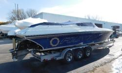 CLEAN FRESH WATER BOAT! ALWAYS STORED INSIDE HEATED. Nominal Length: 38' Length Overall: 38' Max Draft: 2.9' Engine(s): Fuel Type: Other Engine Type: Stern Drive - I/O Draft: 2 ft. 11 in. Beam: 8 ft. 6 in. Fuel tank capacity: 180 Water tank