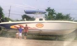 2009 Fountain Powerboats 33 Sport Fish Cruiser 2009 Fountain Powerboats 33 Sport Fish Cruiser model in great condition White fiberglass hull with a matching vinyl interior 33 feet in overall length Equipped with Triple 275hp Mercury Outboard motors