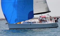 A perfectly Maintained, one owner Hunter 38' 2 cabinscruiser, ready to sail away or perfect second home away from home in warm, vibrant San Diego. Raymarine E 80 CharplotterDisplay at Steering Station. Raymarine Autopilot. Raymarine Wind,