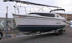 2009 Hunter Edge Sailboat 27 27 Foot Hunter Edge Sailboat It Is In Great Condition Comes With A Trailer This Is A Trailer Sailer Which Means You Can Pull It On The Highway With A Suv Or Truck With No Special Permits Or Care Its On Lake Lanier Its A
