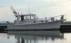 Fresh water, cleanest Mainship 31 Pilot on the market, low engine hours, Raymarine Chartplotter, Fish Finder and Autopilot, Bow thrusters, generator. Trades considered. CANVAS AFT DECK HARDTOP COCKPIT COVER SIDE/AFT CURTAINS DECK ANCHOR W/LINES BOW PULPIT