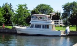 Excellent well maintained one owner Mainship Expedition Trawler. One of only 10 built on an extended 390 model hull. The extra length of the boat was used to extend the salon area. The expansive interior includes cherry cabinetry with Corian counter top,