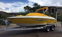 This 2009 Monterey is in excellent condition. It has lived its life in a protected boat dock. This boat has plenty of room for the family as well as lots of storage. It features snap in carpet as well as snap on bow and cockpit covers custom made for the