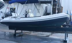 Lenco Trim Tabs Icom IC-M422 VHF Radio Fusion MS-RA200 Audio Contril Unit 12V Outlet Navigation Lights Bilge Pump Ritchie Compass Under Helm Storage Under Seat Storage Anchor Locker Dive Ladder Bimini Top Tow Eyes Horn Nominal Length: 17' Length Overall: