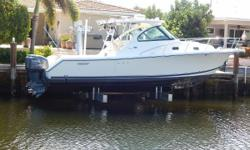 Fantastic Fish and Cruise Versatility! This Pursuit OS 315 is one of the best high quality express boats on the market for versatility. She is equally adept at hunting big game fish in tough seas to family fun in the islands. She is loaded
