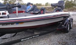 MERCURY 225 PRO XS, INCLUDES HOT FOOT, ATLAS HYDRAULIC PLATE, COVER, LOWRANCE RAM HOOKUP ON DASH, MINN KOTA FORTREX 80LB 24V TROLLING MOTOR, LOWRANCE HDS7 GEN2 ON FRONT!  Nominal Length: 20'