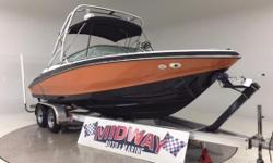 """Everything about this boat is sweet! High quality """"REGAL""""! Large 22' boat with large 320hp Fuel Injected motor, Tower and rack, High end sound system, Brand new custom snap on travel covers, Dual Stainless props for great hole shot."""