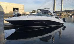 Our recent trade, this 2009 Sea Ray 350DA is in exceptional condition inside and out.  Her owners kept all maintenance current and improved her with soft good upgrades listed below.   We had independent mechanical and marine surveys performed